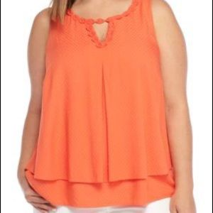 Crown & Ivy Sleeveless Double Layer Solid Tank Top